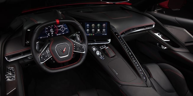 2020 Chevrolet Corvette Sports Car: front seats black